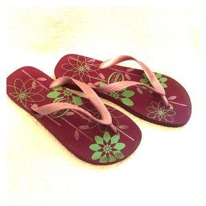 Hawaiians floral purple sandals